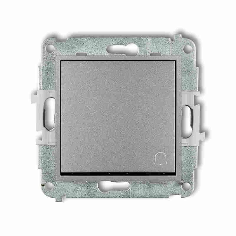 Wlaczniki-i-przyciski-dzwonkowe - srebrny przycisk dzwonkowy zwierny z piktogramem 7mwp-4 deco mini karlik firmy Karlik