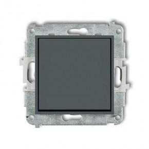 Wylaczniki-jednobiegunowe - pojedynczy włącznik grafitowy mat 28mwp-1 deco mini karlik