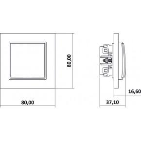 Wlaczniki-i-przyciski-dzwonkowe - szary mat przycisk dzwonkowy zwierny z piktogramem 27mwp-4 deco mini karlik