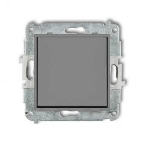 Wylaczniki-jednobiegunowe - włącznik pojedynczy do światła szary matowy 27mwp-1 deco mini karlik