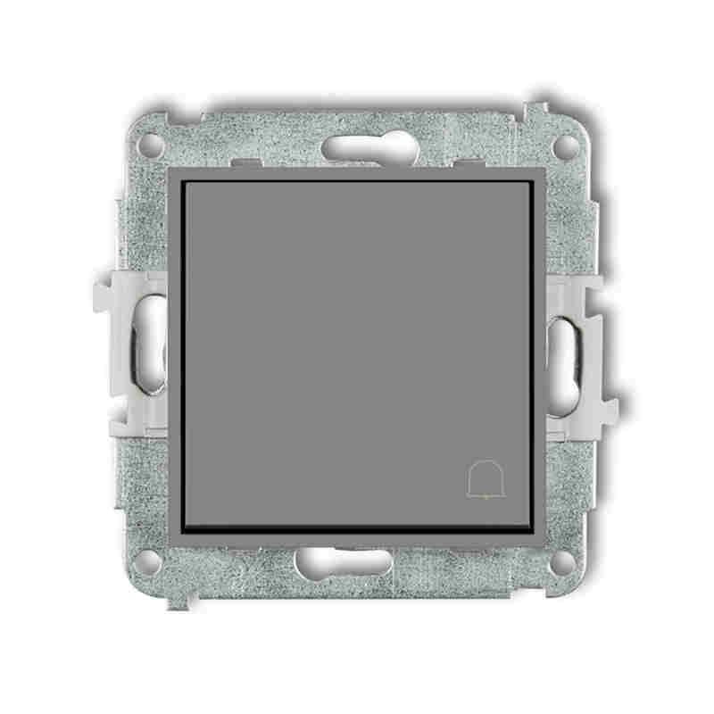 Wlaczniki-i-przyciski-dzwonkowe - szary mat przycisk dzwonkowy zwierny z piktogramem 27mwp-4 deco mini karlik firmy Karlik