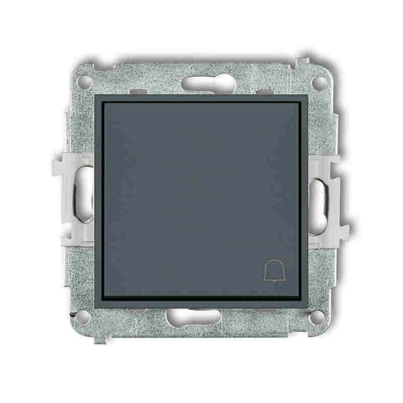Wlaczniki-i-przyciski-dzwonkowe - przycisk dzwonkowy zwierny z piktogramem grafitowy mat 28mwp-4 deco mini karlik firmy Karlik