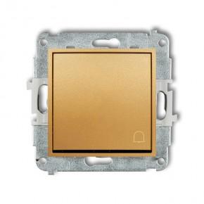 Wlaczniki-i-przyciski-dzwonkowe - przycisk dzwonkowy zwierny z piktogramem złoty 29mwp-4 deco mini karlik