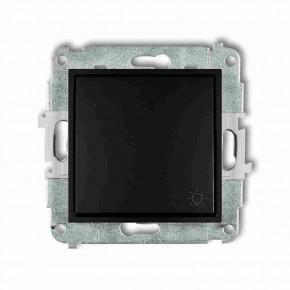 Wylaczniki-typu-swiatlo-zwierne - czarny przycisk światło zwierny z piktogramem 12mwp-5 deco mini karlik