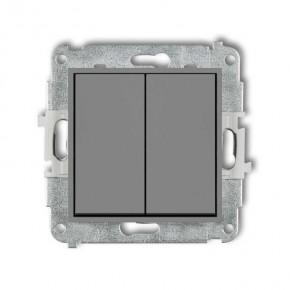 Wylaczniki-podwojne - włącznik świecznikowy szary mat 27mwp-2 deco mini karlik