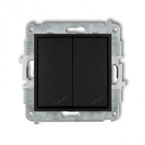 Wylaczniki-schodowe - włącznik schodowy podwójny czarny mat 12mwp-33 deco mini karlik
