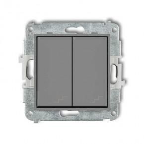 Wylaczniki-schodowe - włącznik schodowy podwójny szary mat 27mwp-33 deco mini karlik