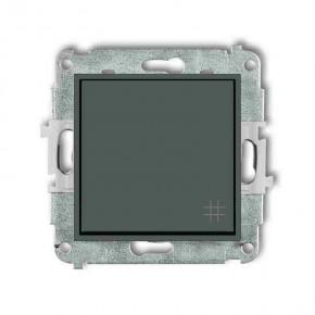 Wylaczniki-krzyzowe - włącznik krzyżowy grafitowy mat 28mwp-6 deco mini karlik