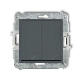 Wylaczniki-schodowe - podwójny włącznik schodowy grafitowy mat 28mwp-33 deco mini karlik