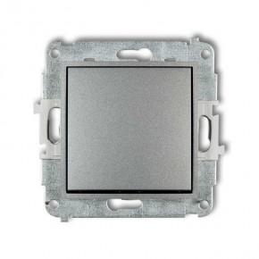 Wylaczniki-schodowe - włącznik schodowy bez piktogramu srebrny metalik 7mwp-3.1 deco mini karlik