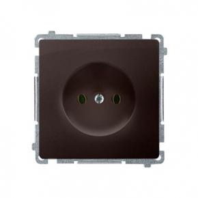 Gniazdo wtyczkowe bez uziemienia czekoladowy mat BMG1.01/47 Simon Basic Kontakt-Simon