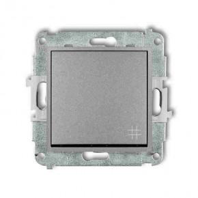 Wylaczniki-krzyzowe - srebrny włącznik krzyżowy 7mwp-6 deco mini karlik