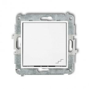 Wylaczniki-schodowe - biały włącznik schodowy mwp-3 deco mini karlik