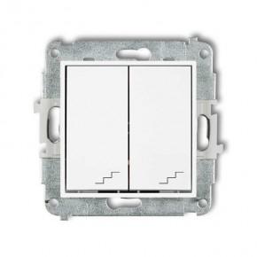 Wylaczniki-schodowe - podwójny włącznik schodowy w kolorze białym mwp-33 deco mini karlik