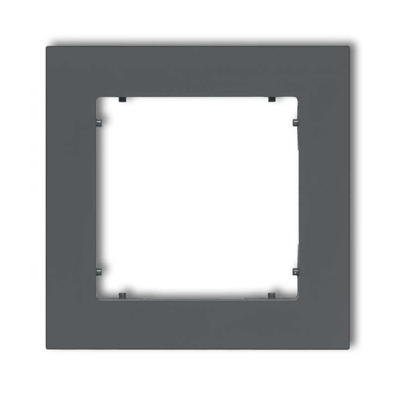 Ramki-pojedyncze - grafitowa matowa ramka pojedyncza 28mr-1 deco mini karlik firmy Karlik