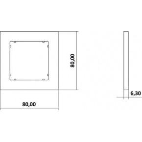 Ramki-pojedyncze - grafitowa matowa ramka pojedyncza 28mr-1 deco mini karlik