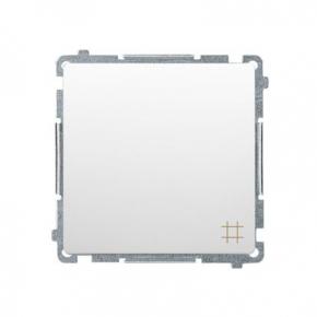 Biały włącznik krzyżowy (moduł) zaciski śrubowe BMW7.01/11 Simon Basic Kontakt-Simon
