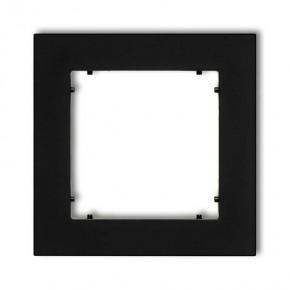 Ramki-pojedyncze - czarna matowa ramka pojedyncza 12mr-1 deco mini karlik