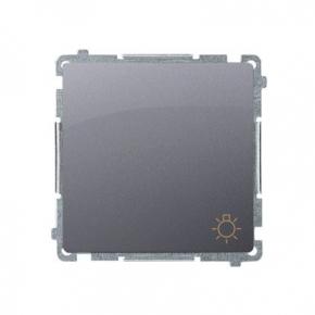 Przycisk zwierny światło (moduł) szybkozłączka srebrny mat BMS1.01/43 Simon Basic Kontakt-Simon
