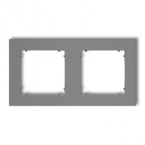 Ramki-podwojne - ramka podwójna szary mat 27mr-2 deco mini karlik