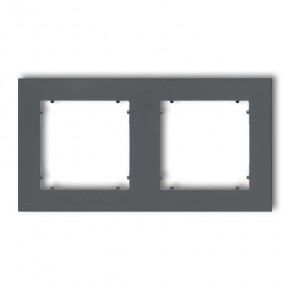 Ramki-podwojne - ramka podwójna grafitowy mat 28mr-2 deco mini karlik