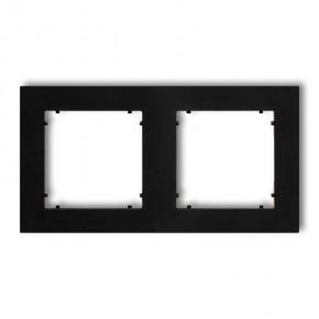 Ramki-podwojne - czarna matowa ramka podwójna 12mr-2 deco mini karlik