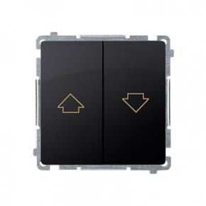 Przycisk żaluzjowy (moduł) zaciski śrubowe grafit mat BMZ1.01/28 Simon Basic Kontakt-Simon
