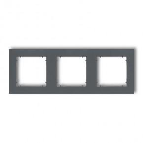 Ramki-potrojne - grafitowa matowa ramka potrójna 28mr-3 deco mini karlik