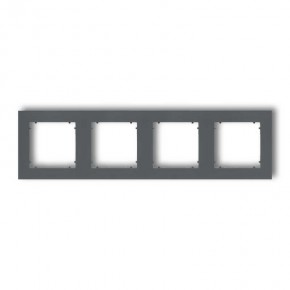 Ramki-poczworne - ramka poczwórna grafitowy mat 28mr-4 deco mini karlik