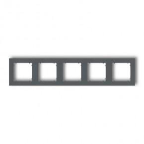 Ramki-pieciokrotne - pięciokrotna ramka grafitowy mat 28mr-5 deco mini karlik