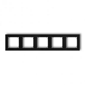 Ramki-pieciokrotne - pięciokrotna ramka instalacyjna czarna matowa 12mr-5 deco mini karlik