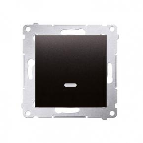 Włącznik jednobiegunowy z podświetleniem LED antracyt DW1L.01/48 Simon 54 Kontakt-Simon