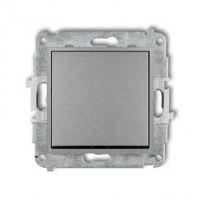 Wylaczniki-typu-swiatlo-zwierne - włącznik zwierny pojedynczy dzwonkowy bez piktogramu srebrny metalik 7mwp-4.1 deco mini karlik