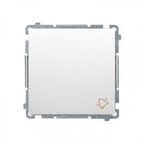 Biały przycisk dzwonek (moduł) szybkozłączka BMD1.01/11 Simon Basic Kontakt-Simon