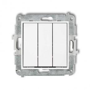 Wylaczniki-potrojne - biały włącznik potrójny mwp-7 deco mini karlik
