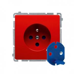 Czerwone gniazdo wtyczkowe DATA z kluczem uprawniającym BMGD1.01/22 Simon Basic Kontakt-Simon