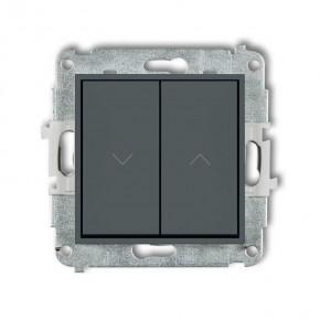 Wylaczniki-zaluzjowe - żaluzjowy włącznik zwierny grafitowy mat 28mwp-8 deco mini karlik