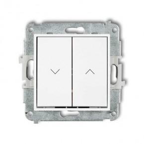 Wylaczniki-zaluzjowe - biały włącznik żaluzjowy zwierny z podtrzymaniem mwp-88 deco mini karlik