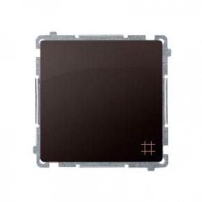 Włącznik krzyżowy (moduł) zaciski śrubowe czekoladowy mat BMW7.01/47 Simon Basic Kontakt-Simon