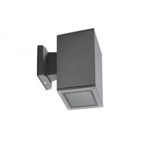 Kinkiety-ogrodowe - aluminiowa lampa ścienna zewnętrzna antracyt max.60w e27 el-160-gr lart kanlux