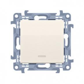Kremowy włącznik jednobiegunowy z podświetleniem LED CW1L.01/41 Simon 10 Kontakt-Simon