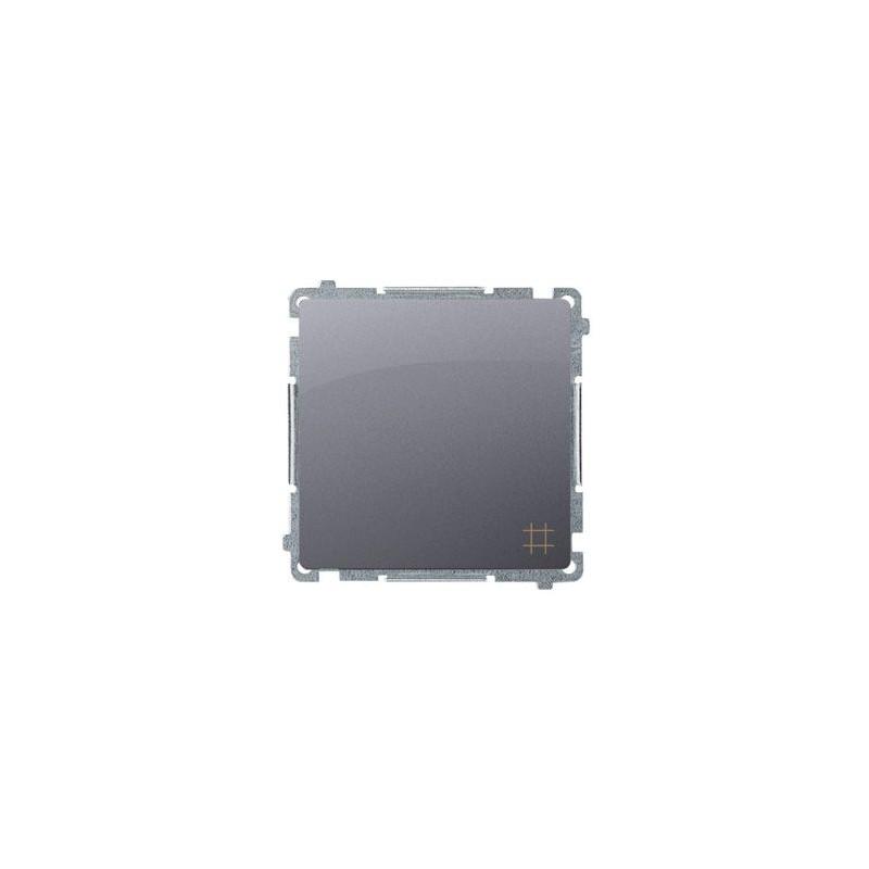 Włącznik krzyżowy (moduł) zaciski śrubowe srebrny mat BMW7.01/43 Simon Basic Kontakt-Simon