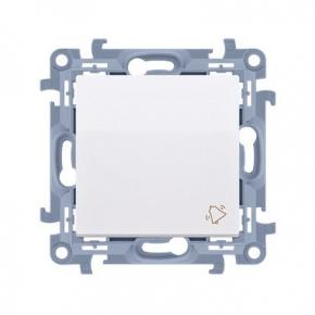 Biały przycisk dzwonek 10AX CD1.01/11 Simon 10 Kontakt-Simon