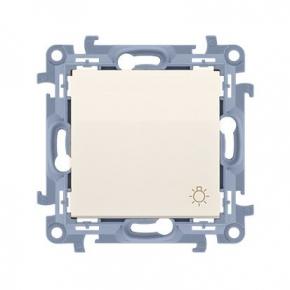 Kremowy przycisk zwierny światło 10AX CS1.01/41 Simon 10 Kontakt-Simon
