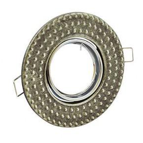 Oprawy-sufitowe-ruchome - oczko sufitowe ruchome srebrny antyczny fobos 7807 310262 polux