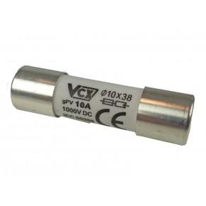 Wylaczniki-nadpradowe-bezpieczniki - wkładka topikowa cylindryczna do instalacji pv 10a cf-10pv vcx