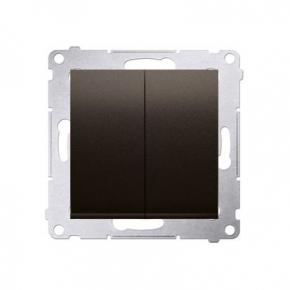 Włącznik świecznikowy 10AX brązowy mat  metalizowany DW5.01/46 Simon 54 Kontakt-Simon