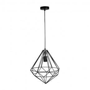 Oswietlenie-sufitowe - lampa druciana wisząca loftowa czarna industrial funda polux