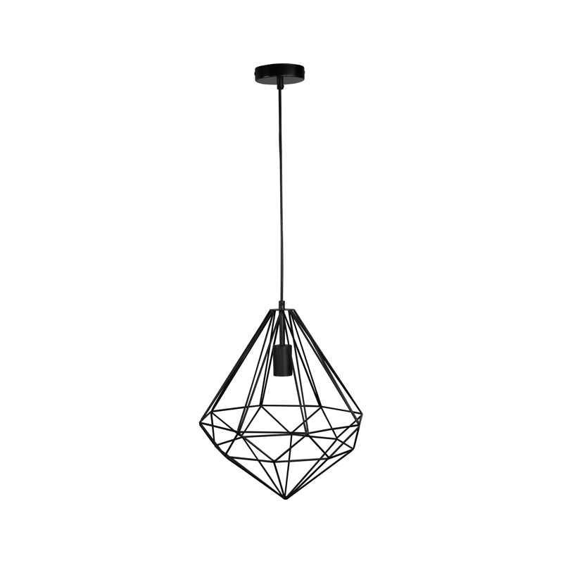 Oswietlenie-sufitowe - lampa druciana wisząca loftowa czarna industrial funda polux firmy POLUX