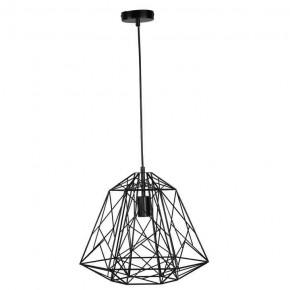 Oswietlenie-sufitowe - druciana lampa ażurowa czarna industrial e27 horta polux